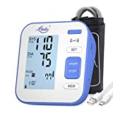 Digital Automatic Upper Arm Blood Pressure Monitor - Blood Pressure Gauges for Blood Pressure and Heart Rate, Backlight Large LCD Display, 2x120 Storage Capacity